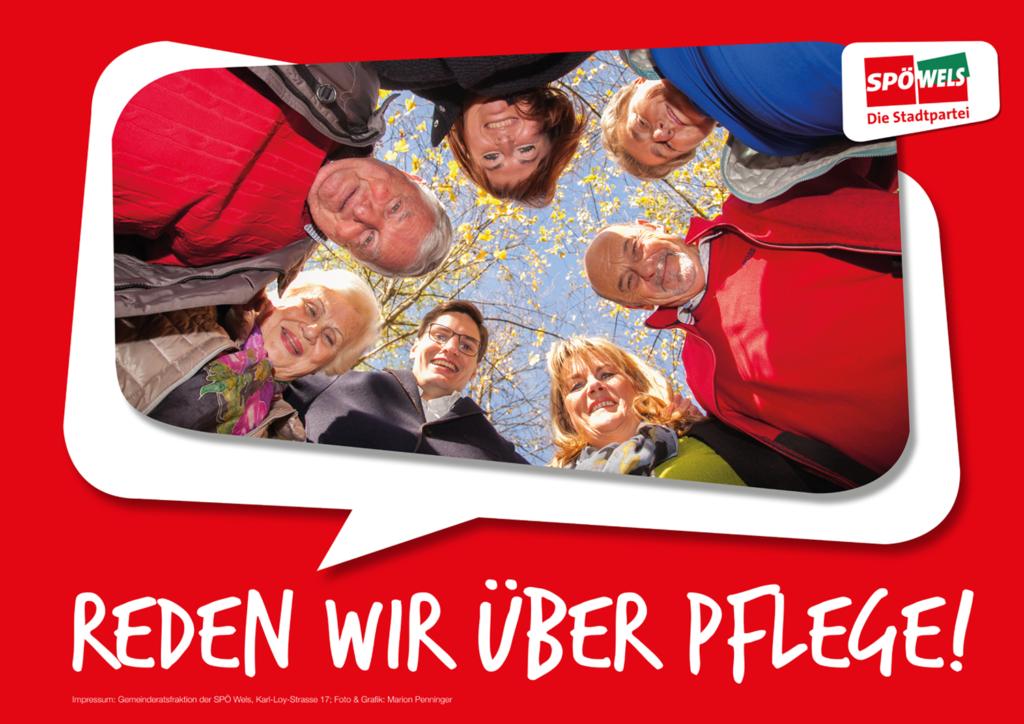 Plakat A1 SPÖ: Pflege